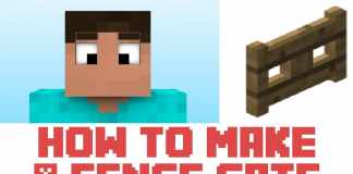 How To Make A Fence Gate In Minecraft