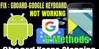 Gboard keeps stopping