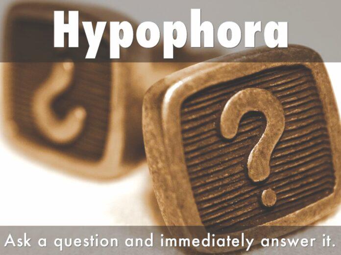 Hypophora speech