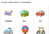Transportation Worksheet for kids