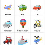 Transportation Worksheet for kids
