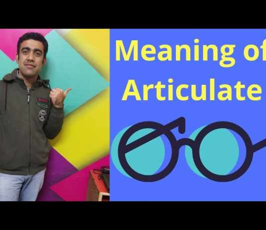 articulate manner